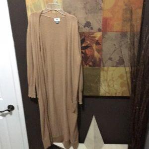 EUC extra long camel cardigan.